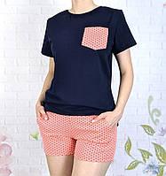 Качественная женская хлопковая пижама 42-56 размеры, фото 1