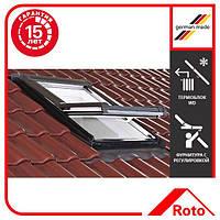 Вікно мансардне з ПВХ 74х118 см, з WD блоком (Roto Designo).