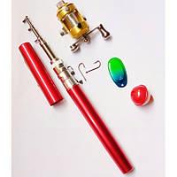 🔥 Карманная удочка-ручка Pocket pen fishing rod карманная, складная, телескопическая,это,удочки для рыбалки