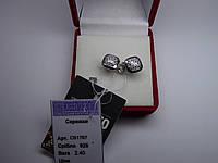 Серебряные женские серьги пусеты 2,4 г НОВЫЕ