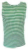 Майка-тельняшка зеленая полоса (батал)