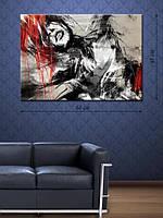 Картина 48х68 на холсте «Красно-черные эмоции»