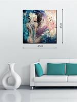 Картина 48х48 на холсте «Девушка в водовороте»