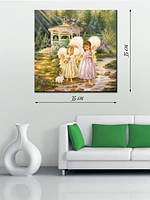 Картина 35х35 на холсте «Сказочные ангелы»