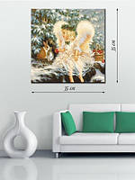 Картина 35х35 на холсте «Ангел»