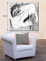 Картина 35х35 на холсте «Руки»