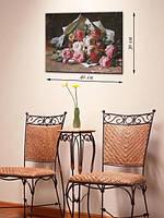 Картина 30х40 на холсте «Букет роз»