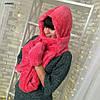 Женский махровый  шарф -шапка 129(41)
