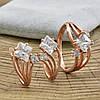 Набор Xuping 65056 кольцо размер 19 + серьги 19х10 мм позолота РО, фото 2