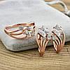 Набор Xuping 65056 кольцо размер 19 + серьги 19х10 мм позолота РО, фото 3