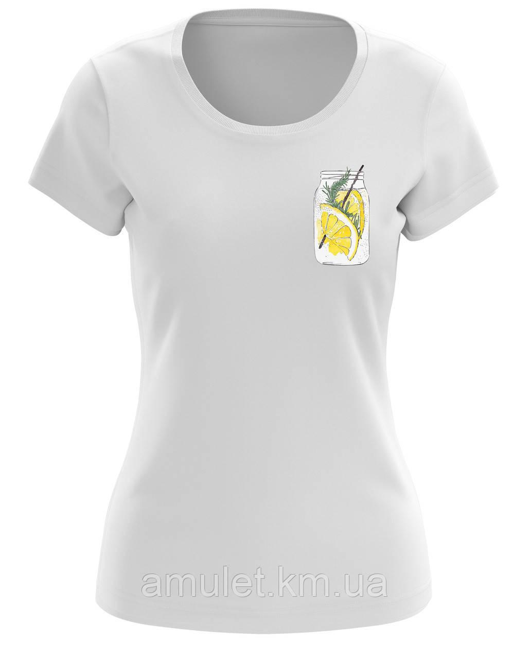 """Футболка жіноча """"Коктейль з лимоном"""""""