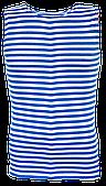 Майка-тельняшка ВДВ голубая  (батал)