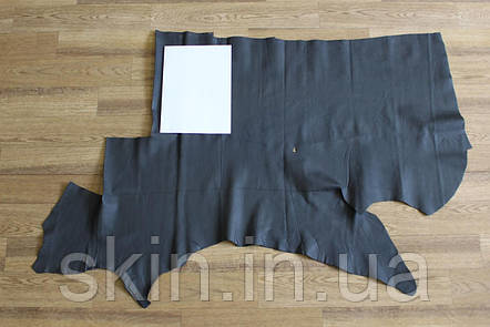 Кожа натуральная серого цвета, толщина 0.8 мм, 65 дец, арт. СК 2237-4, фото 2