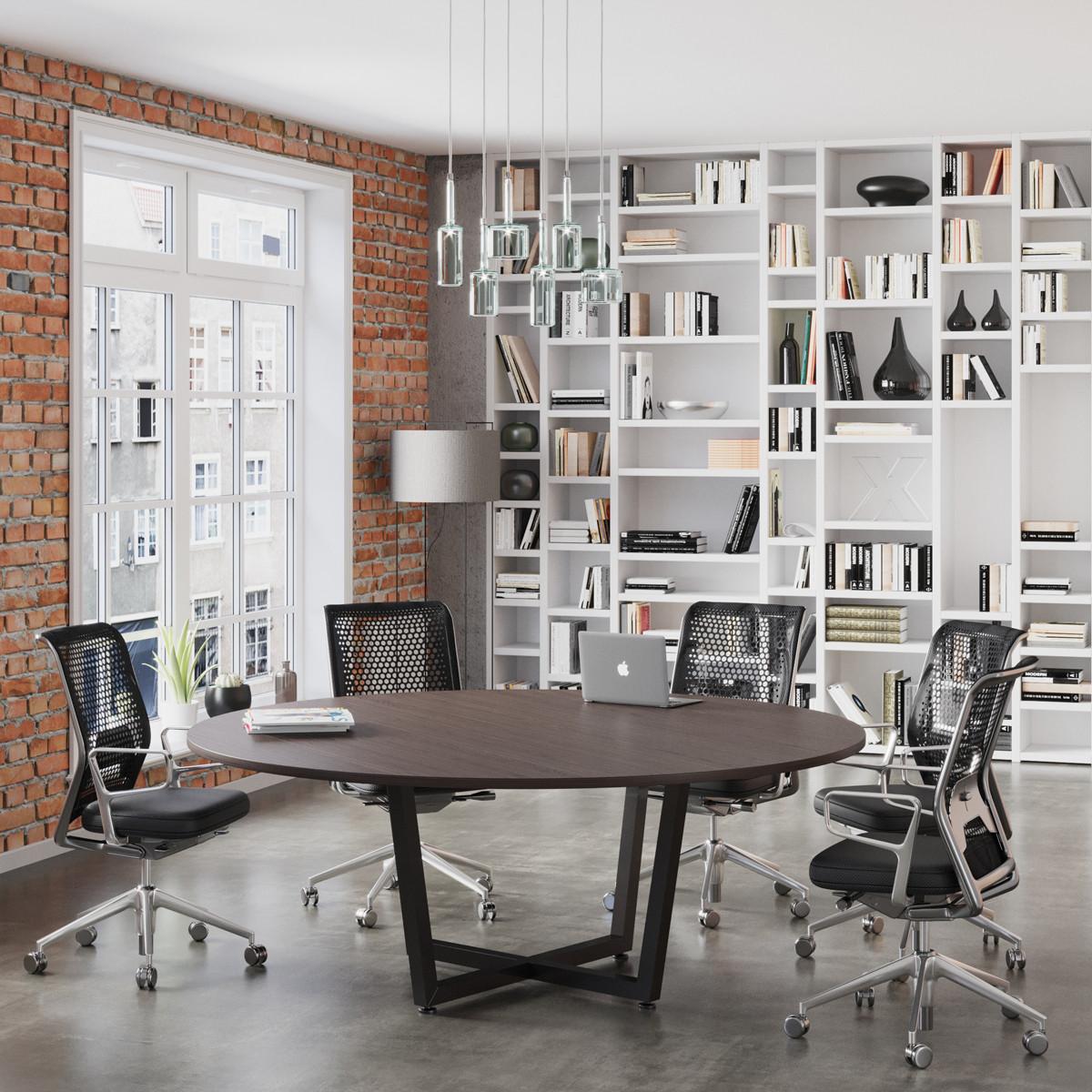 Круглый стол для переговоров D-2000 Loft-design 2000х750 мм