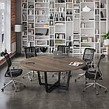 Круглый стол для переговоров D-2000 Loft-design 2000х750 мм, фото 3
