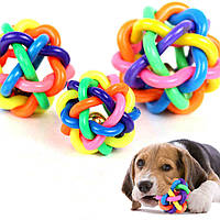 Игрушка для собак из каучука Мяч клубок со звоночком Pet Product, фото 1