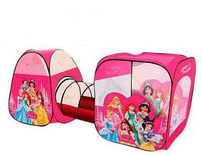 Игровая палатка с тоннелем M 3776 DP Disney Princess, размер 270-92-92 см