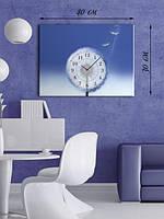 Фотографическая картина с часами «Пушистый одуванчик»