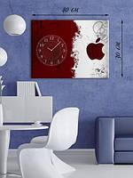 Фотографическая картина с часами «Красное и белое»