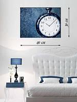 Фотографическая картина с часами «Карманные часы»