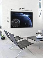 Фотографическая картина с часами «Голубая планета»