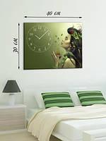 Фотографическая картина с часами «Фея»