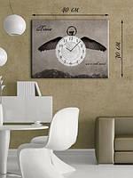 Фотографическая картина с часами «Летящее время»