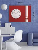 Фотографическая картина с часами «Эмблема Adidas»