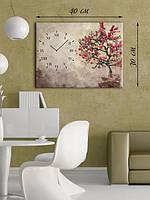 Фотографическая картина с часами «Дерево сакуры»