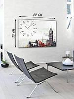 Фотографическая картина с часами «Биг Бен и Тауэрский мост»