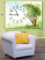 Фотографическая картина с часами «Сказочное дерево»
