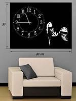 Фотографическая картина с часами «Кеды»