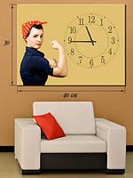 Фотографическая картина с часами «Мы сможем сделать это!»