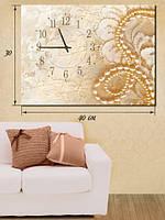 Фотографическая картина с часами «Жемчужное ожерелье»