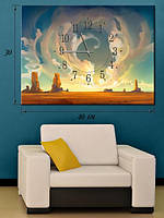 Фотографическая картина с часами «Пустыня Мохаве»