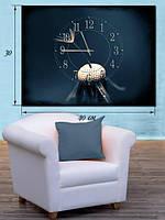 Фотографическая картина с часами «Одуванчик»