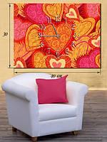 Фотографическая картина с часами «Влюбленные сердца»