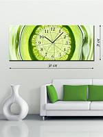 Картина с часами 21x50 на холсте «Экзотик»