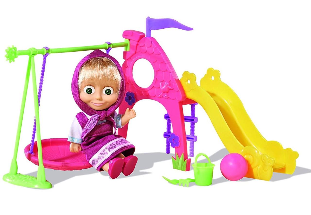 Игровой набор Simba Кукла Маша с детской игровой площадкой из м/ф Маша и Медведь (109301816)