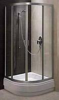 Душевая кабина SANTEH 1901800 80х80х15 со средним поддоном 28,5 см, прозрачное стекло