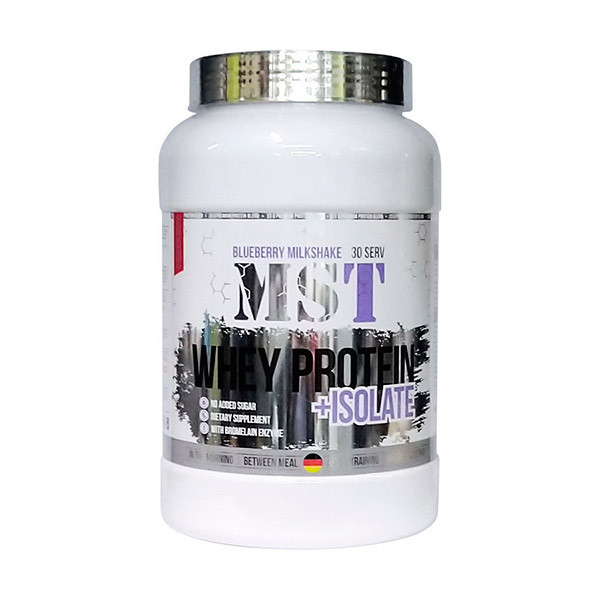 Сывороточный протеин изолят MST Whey Protein + Isolate (0.9 кг) мст  blueberry milkshake