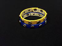 Браслет из кожи в золотых заклепках (товар при заказе от 200 грн)