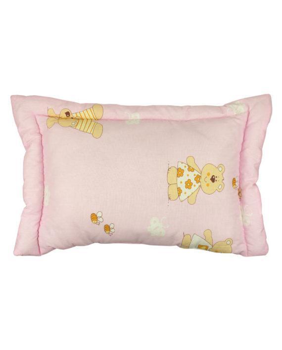 Подушка 40х60 детская с силиконовым наполнителем розовая