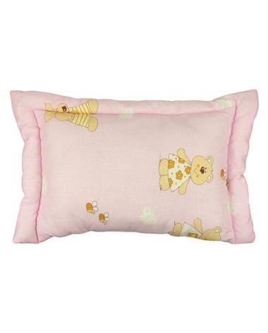 Подушка 40х60 детская с силиконовым наполнителем розовая, фото 2