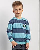 Реглан в синюю полоску  на мальчика 2,3, 6-7, 8-9 лет