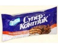 Печенье-сендвич Супер-Контик в шоколаде 100г