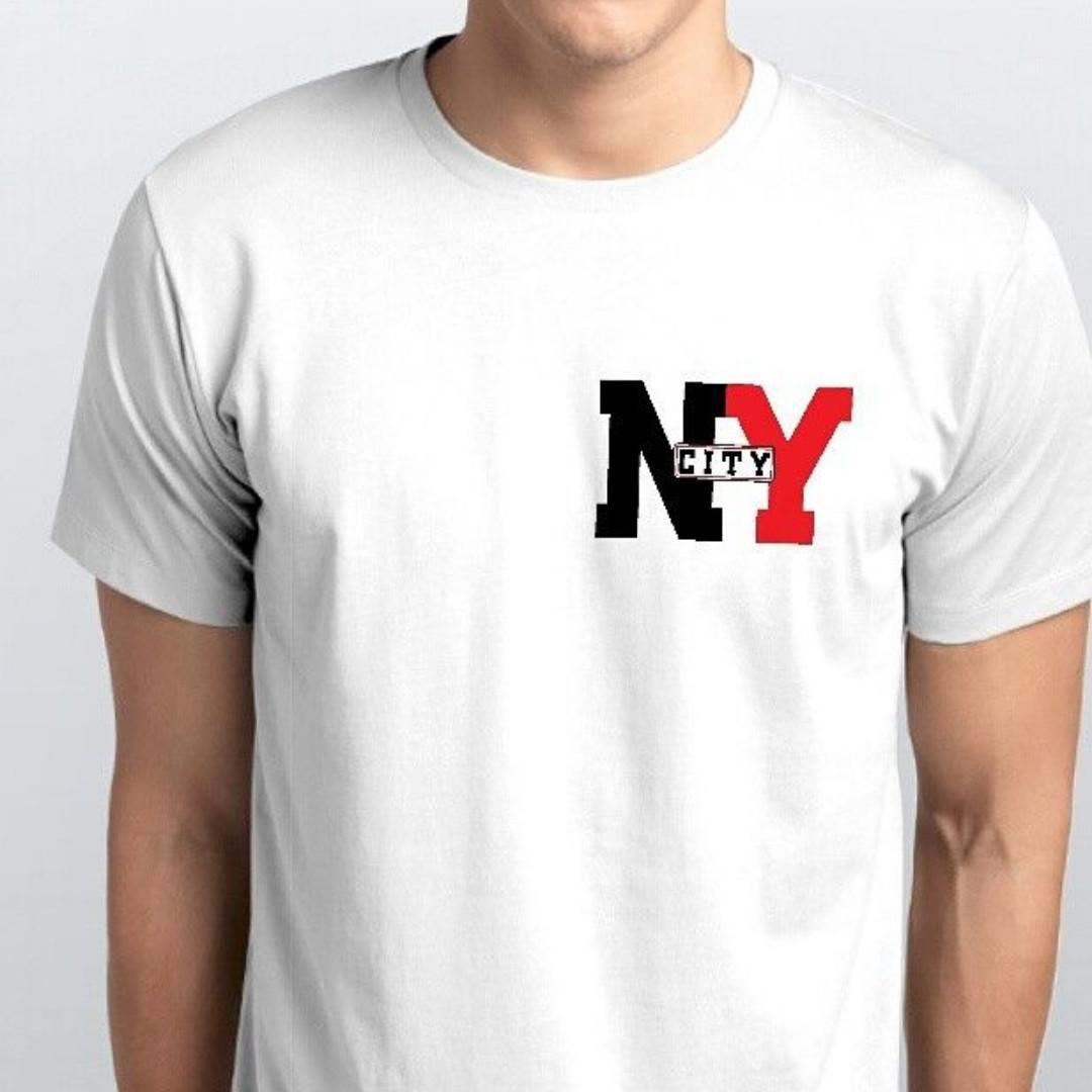 Футболки мужские, логотип, NYкопия
