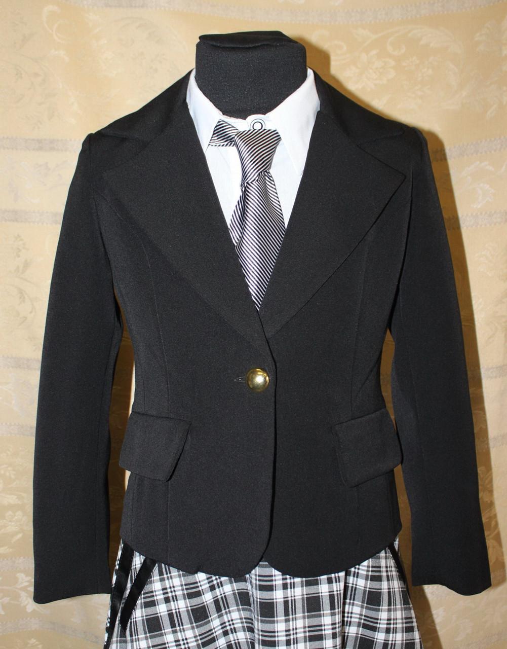 Пиджак, жакет школьный для девочки синий, черный
