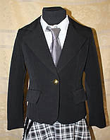 Пиджак, жакет школьный для девочки синий, черный, фото 1