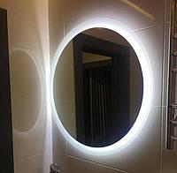Зеркало в ванную, прихожую, спальню, настенное влагостойкое с LED, с лед подсветкой круглое под заказ
